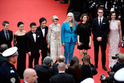 (R-L) Official Selection Jury members Carole Bouquet, Nicolas Winding Refn,Sofia Coppola, Jane Campion, Leila Hatami, Gael Garcia Bernal,  Zhangke Jia, Do-yeon Jeon and Willem Dafoe attend the Opening ceremony and the 'Grace of Monaco' Premiere during the 67th Annual Cannes Film Festival on May 14, 2014 in Cannes, France.