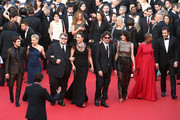 "(L-R) Jury members Xavier Dolan, Sienna Miller,Guillermo del Toro, Rossy de Palma, Joel Coen, Sophie Marceau,  Rokia Traore and Jake Gyllenhaal attend the opening ceremony and premiere of ""La Tete Haute"" (""Standing Tall"") during the 68th annual Cannes Film Festival on May 13, 2015 in Cannes, France."