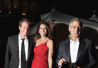 George Clooney Cindy Crawford Opening Dinner - 68th Venice Film Festival