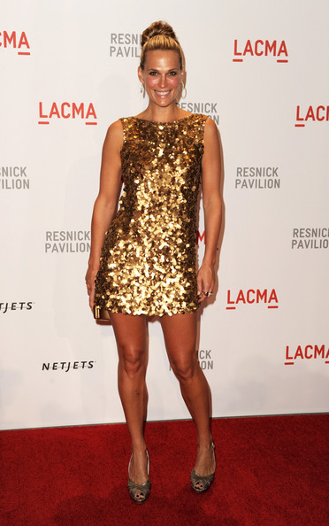 "Actress Molly Sims arrives at the opening Gala and ""Unmasking"" for the Resnick Pavilion at LACMA on September 25, 2010 in Los Angeles, California."