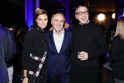 Martina Colombari, Nerio Alessandri and Billy Costacurta attend Opening Garage Italia Milano on November 7, 2017 in Milan, Italy.