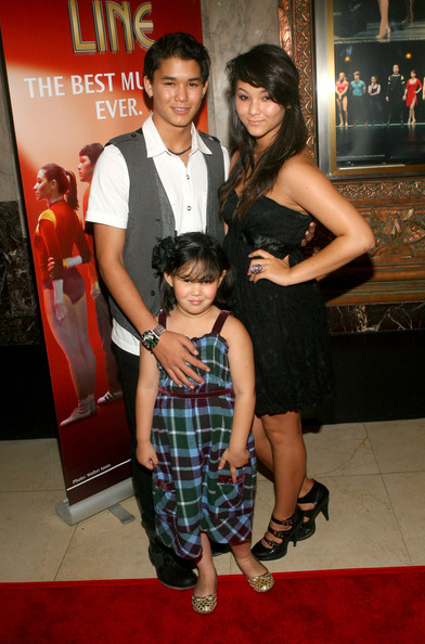 Actor Booboo Stewart (L) and his sisters attend the opening night of