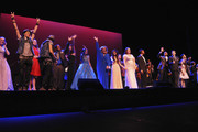 The cast of Broadway & Beyond close the show on stage at the opening night of Dr. Phillips Center for the Performing Arts; Broadway & Beyond on November 15, 2014 in Orlando, Florida.