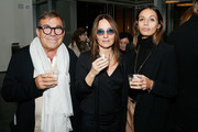 (L-R) Directors Piero Maccarinelli, Maria Sole Tognazzi and Luisa Carcavale attend the opening night of The Museum of Modern Art and Luce Cinecitta's Ugo Tognazzi: Tragedies of a Ridiculous Man Retrospective at MoMA on December 5, 2018 in New York City.