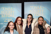 "Dascha Polanco and her family attend the opening night of ""'Twas The Night Before..."" by Cirque Du Soliel at the Hulu Theater at Madison Square Garden on December 12, 2019 in New York City."