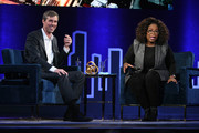 Beto O'Rourke and Oprah Winfrey speak onstage during Oprah's SuperSoul Conversations at PlayStation Theater on February 05, 2019 in New York City.