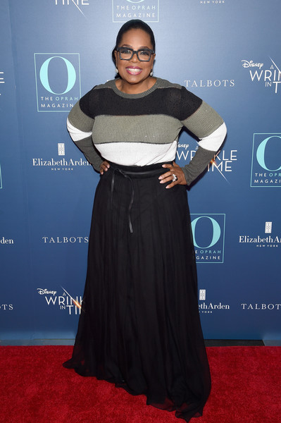 "O, The Oprah Magazine Hosts Special NYC Screening Of ""A Wrinkle In Time"" At Walter Reade Theater [o the oprah magazine hosts special nyc screening of ``a wrinkle in time,a wrinkle in time,flooring,carpet,shoulder,fashion,red carpet,fashion design,joint,oprah winfrey,nyc,walter reade theater,screening]"