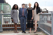 Danielle Brooks, Jason Biggs, Taylor Schilling and Laura Prepon attend a photocall to launch season 2 of Netflix exclusive series 'Orange Is The New Black' on May 29, 2014 in London, England.