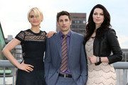 Taylor Schilling, Jason Biggs and Laura Prepon attend a photocall to launch season 2 of Netflix exclusive series 'Orange Is The New Black' on May 29, 2014 in London, England.