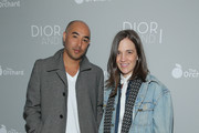 """Max Osterweis (L) attends """"The Orchard's DIOR & I"""" New York screening at Paris Theater on April 7, 2015 in New York City."""
