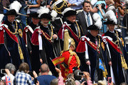 King Willem-Alexander of the Netherlands and King Felipe of Spain walk with Prince Andrew, Duke of York, Prince Edward, Earl of Wessex, Prince William, Duke of Cambridge and Prince Charles, Prince of Wales arrive before the Order of the Garter Service on June 17, 2019 in Windsor, England. The Order of the Garter is the senior and oldest British Order of Chivalry, founded by Edward III in 1348. The Garter ceremonial dates from 1948, when formal installation was revived by King George VI for the first time since 1805.