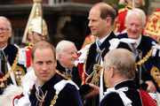 Prince William, Duke of Cambridge and Prince Andrew, Duke of York attend the Order Of The Garter Service at St George's Chapel on June 17, 2013 in Windsor, England.