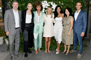 (L-R) Lauren Wasser, Ally Love, Julie Van Ongevalle, Julissa Bermudez, Esther Dong, and Ricky Graziose attend the Origins GINZING Press Launch with Lauren Wasser, Ally Love, and Julissa Bermudez on September 24, 2019 in New York City.