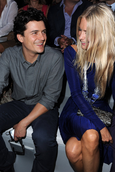 Orlando Bloom Orlando Bloom and Poppy Delevigne attend the Christian Dior Ready to Wear Spring / Summer 2012 show during Paris Fashion Week at Musee Rodin on September 30, 2011 in Paris, France.