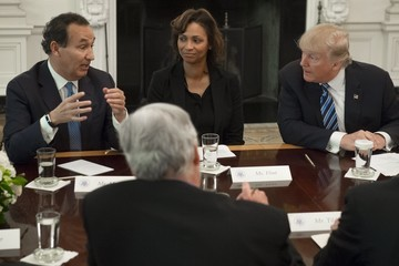 Oscar Munoz President Trump Meets With Airline Industry CEOs At The White House