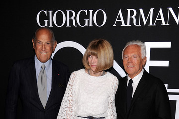 Oscar de la Renta Arrivals at the Giorgio Armani SuperPier Show