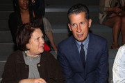 Suzy Menkes and Stefano Tonchi attend the Osklen Spring 2013 fashion show during Mercedes-Benz Fashion Week at The Stage Lincoln Center on September 11, 2012 in New York City.
