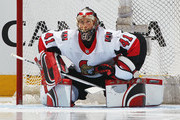 Craig Anderson #41 of the Ottawa Senators stretches prior to playing against the Toronto Maple Leafs in an NHL game at the Air Canada Centre on February 10, 2018 in Toronto, Ontario, Canada. The Maple Leafs defeated the Senators 6-3.
