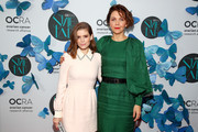 Kate Mara and Maggie Gyllenhaal attend Ovarian Cancer Research Alliance Presents Style Lab hosted by Maggie Gyllenhaal & Kate Mara at Gotham Hall NYC on November 06, 2019 in New York City.