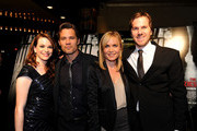 "(L-R) Actors Danielle Panabaker, Timothy Olyphant, Radha Mitchell and director Breck Eisner arrive at Overture's ""The Crazies"" VIP screening at the Vista Theatre on February 23, 2010 in Los Angeles, California."