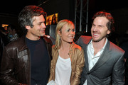 "(L-R) Actor Timothy Olyphant, actress Radha Mitchell, and director Breck Eisner attend the Overture screening of ""The Crazies"" after party held at KCET on February 24, 2010 in Los Angeles, California."