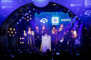 Rita Ora is joined on stage by Matt Terry, Vick Hope, Roman Kemp and 5 After Midnight as she switches on the lights during the Oxford Street Christmas Lights Switch On at Oxford Street on November 7, 2017 in London, England.