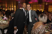 Franklin Sirmans and Marc Anthony attend PAMM Art Of The Party Presented By Valentino at Perez Art Museum Miami on March 9, 2019 in Miami, Florida.