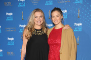 Bar Refaeli (R) and her mother Tzipi Levine attend the PEOPLE Style Awards at Hotel Vier Jahreszeiten on March 7, 2016 in Munich, Germany.