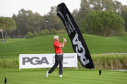 Colm Moriarty of Drive Golf Performance Limited plays his first shot on the 1st tee during the second round of the PGA Play-Offs at Antalya Golf Club - PGA Sultan Course on November 28, 2015 in Antalya, Turkey.