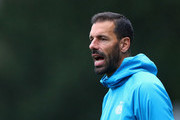 Ruud van Nistelrooy, Manager of PSV gives his team instructions during the UEFA Youth League Group B match between PSV and Tottenham Hotspur at the Sportcomplex de Herdgang on October 24, 2018 in Eindhoven, Netherlands.