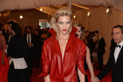 Anja Rubik in Red Leather - The Best Dressed at the 2013 Met Gala