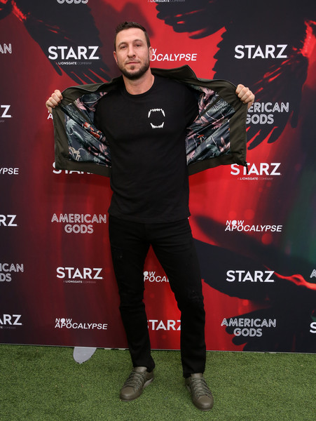 'American Gods' And 'Now Apocalypse' Live Viewing Party At #TwitterHouse [premiere,footwear,carpet,pablo schreiber,lustre pearl,austin,texas,american gods now apocalypse live viewing party,twitterhouse]