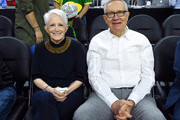 Landra Reid (L) and her husband, former U.S. Sen. Harry Reid, attend a quarterfinal game of the Pac-12 Basketball Tournament between the Arizona State Sun Devils and the Oregon Ducks at T-Mobile Arena Arena on March 9, 2017 in Las Vegas, Nevada.
