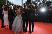 "Asier Etxeandia, Antonio Banderas, Penelope Cruz, wearing Atelier Swarovski Fine Jewelry, Director Pedro Almodovar, Nora Navas and Leonardo Sbaraglia attend the screening of ""Pain And Glory (Dolor Y Gloria/Douleur Et Gloire)"" during the 72nd annual Cannes Film Festival on May 17, 2019 in Cannes, France."