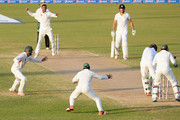 Ian Bell of England is bowled by Shoaib Malik of Pakistan during day four of the 3rd Test between Pakistan and England at Sharjah Cricket Stadium on November 4, 2015 in Sharjah, United Arab Emirates.