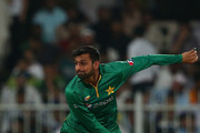Shoaib Malik bowls during the second One Day International match between Pakistan and West Indies  at Sharjah Cricket Stadium on October 2, 2016 in Sharjah, United Arab Emirates.
