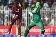 Shoaib Malik of Pakistan bats during the first One Day International match between Pakistan and West Indies at Sharjah Cricket Stadium on September 30, 2016 in Sharjah, United Arab Emirates.