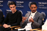 "Felix Mallard (L) and Damon Wayans Jr. from ""Happy Together"" appear on stage at The Paley Center for Media's 2018 PaleyFest Fall TV Previews - CBS at The Paley Center for Media on September 12, 2018 in Beverly Hills, California."