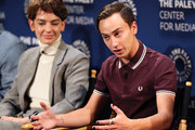 """Brigette Lundy-Paine (L) and Keir Gilchrist from Netflix's """"Atypical"""" appear on stage at The Paley Center for Media's 2018 PaleyFest Fall TV Previews - Netflix at The Paley Center for Media on September 6, 2018 in Beverly Hills, California."""