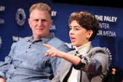 """Michael Rapaport (L) and Brigette Lundy-Paine from Netflix's """"Atypical"""" appear on stage at The Paley Center for Media's 2018 PaleyFest Fall TV Previews - Netflix at The Paley Center for Media on September 6, 2018 in Beverly Hills, California."""