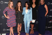 """(L-R) Amy Rardin, Sarah Jeffery, Melonie Diaz, Madeleine Mantock and Jessica O'Toole from """"Charmed"""" attend The Paley Center for Media's 2018 PaleyFest Fall TV Previews - The CW at The Paley Center for Media on September 8, 2018 in Beverly Hills, California."""