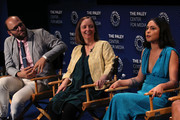(L-R) Raphael Bob-Waksberg, Kate Purdy and Rosa Salazar of 'Undone' appear on stage at The Paley Center For Media's 2019 PaleyFest Fall TV Previews - Amazon at The Paley Center for Media on September 06, 2019 in Beverly Hills, California.
