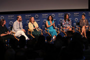 (L-R) Hisko Hulsing, Raphael Bob-Waksberg, Kate Purdy, Rosa Salazar, Angelique Cabral and Constance Marie of 'Undone' appear on stage at The Paley Center For Media's 2019 PaleyFest Fall TV Previews - Amazon at The Paley Center for Media on September 06, 2019 in Beverly Hills, California.