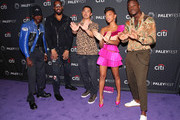 "(L-R) Ashton Sanders, RZA, Alex Tse, Zolee Griggs and Johnell Young of '""Wu Tang: An American Saga"" attend The Paley Center tor Media's 2019 PaleyFest Fall TV Previews - Hulu at The Paley Center for Media on September 10, 2019 in Beverly Hills, California."