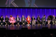 "Michael Shur, Rob Lowe, Retta, Adam Scott, Nick Offerman, Amy Poehler, Rashida Jones, Aziz Ansari, Chris Pratt, Aubrey Plaza, and Jim O'Heir attend the Paley Center For Media's 2019 PaleyFest LA - ""Parks And Recreation"" 10th Anniversary Reunion held at the Dolby Theater on March 21, 2019 in Los Angeles, California."