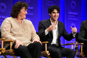 "Actors Dot-Marie Jones and Darren Criss on stage at  The Paley Center For Media's 32nd Annual PALEYFEST LA - ""Glee"" at Dolby Theatre on March 13, 2015 in Hollywood, California."