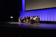 """(L-R) Moderator Leanne Aguilera, executive producers Greg Berlanti, Ali Adler, actors Melissa Benoist, Calista Flockhart, Chyler Leigh, Mehcad Brooks, David Harewood, and Jeremy Jordan attend The Paley Center For Media's 33rd Annual PALEYFEST Los Angeles """"Supergirl"""" at Dolby Theatre on March 13, 2016 in Hollywood, California."""