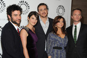 "(L-R) Actors Josh Radnor, Cobie Smulders, Jason Segel, Alyson Hannigan and Neil Patrick Harris arrive at the Paley Center For Media Celebrates ""How I Met Your Mother"" 100th Episode on January 7, 2010 in Beverly Hills, California."