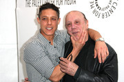 "Actors Theo Rossi (L) and Dayton Callie attend The Paley Center For Media's PaleyFest 2012 Honoring ""Sons of Anarchy"" at the Saban Theatre on March 7, 2012 in Beverly Hills, California."