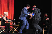 """Actors Taryn Manning, Jason Biggs and Lea DeLaria on stage at The Paley Center For Media's PaleyFest 2014 Honoring """"Orange Is The New Black"""" at Dolby Theatre on March 14, 2014 in Hollywood, California."""